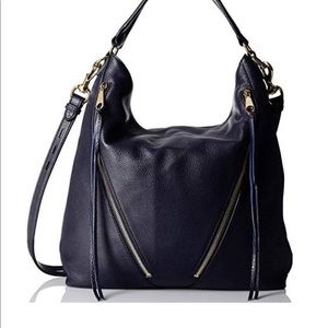 Rebecca Minkoff Moto Leather Hobo EUC Moon